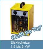Neubau heizen mit Elektroheizer 3 kW. Zur Neubauheizung kommen nur Elektroheizer in Frage, weil Öl oder Gasbrenner pro kg Brennstoff ca. 1,6 kg Wasserdampf erzeugen.